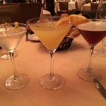 Giner pear martini, blood orange and sidecar