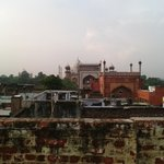 Azotea con vistas al Taj Mahal