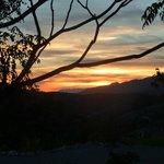 puesta de sol en la Alquería de Morayma