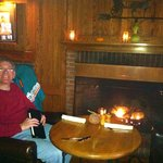Sitting fireside while enjoying delicious pumpkin squash bisque, beef stew and Vermont cheddar M