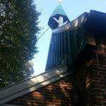 Glockenturm  der alten Inselkirche