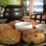 Famous Creamy Craisin-Lemon Breakfast scones with lemon curd