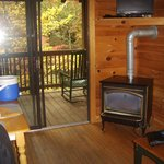 View from small kitchen - Living/Dining back deck