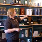 Alison in the small shop