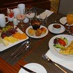 An exquisite breakfast