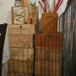 Wine box decor