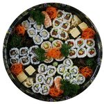 large mixed sushi platter