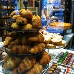 French pastries and chocolates.