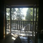 From inside our room with the french doors open to the balcony