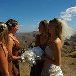 Girls enjoying the view