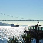Euro.Asiatische Brücke und Hotelboot
