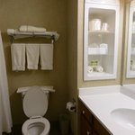 Very clean bathroom; great bath products