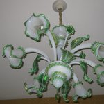 Murano Glass Chandelier in our room