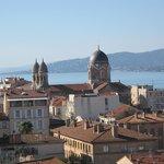 zicht over Saint Raphael