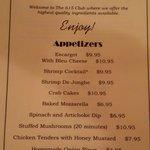 Appetizer menu pic