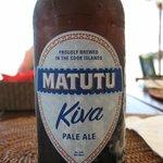 With a Rarotonga beer