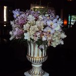 flower arrangements in the lobby