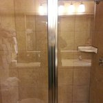 Walk in shower.  Nice and spacious.
