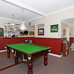 pool room with reading nook