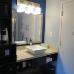 Bright vanity area