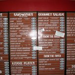 Menu board, Tebo's Restaurant