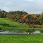 Blick vom Zimmerbalkon auf den Golfplatz