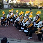 The Mustang Band serenades during Parents Weekend