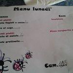 Un esempio di menù... da brividi per aver pagato 70 euro/pp