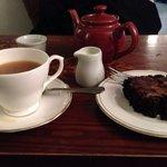 Fantastic tea and brownie.