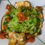 Salade de chevre chaud au miel
