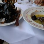 Our lunch - fabulous mussels