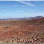 View across Montaña Roja crater