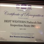 Inspection scrore 990 out of 1000