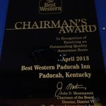 Best Western Chairman's Award
