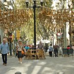 local Ramblas with 'Chair' art!