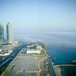 view from our window. had to experience first hand of foggy morning in Doha. Winter is almost he
