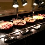 hot bar section, breakfast buffet