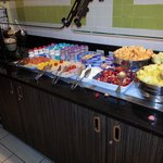 cold section of breakfast buffet