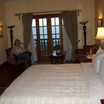 relaxing in our lovely room
