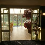 The Sherwood bar conservatory, access to the pool