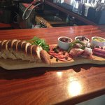 Delicious sharing meat board