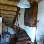 Escalier menant aux 2 chambres d'hôtes du 1er étage