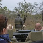 Chris, our tracker, in search of leopard.