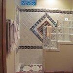 The tile shower