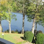 my Moltz room balcony view of Lake Toxaway