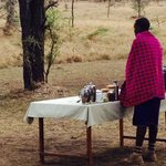 Breakfast at Naboisho Camp