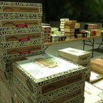 Cigar boxes getting ready for production