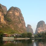 The Yangshuo Mountain Retreat as seen from the river