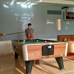 The Boys enjoying a game of pool in the bar area...