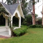 Wedding Pavilion in 1/4 acre yard. Gazebo off to the right.